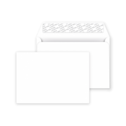 C6 Peel and Seal Envelope Ice White