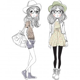 Fashion Girl Art Print 2