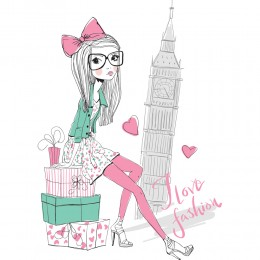 Fashion Girl Art Print 5