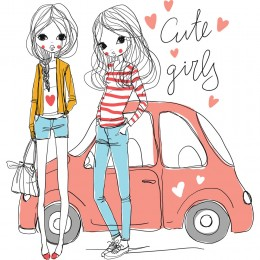Fashion Girl Art Print 56