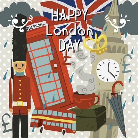 Greetings Card - London
