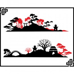 Greetings Card - Oriental